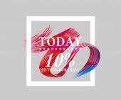 Prodej dnes 10 off znamení nad umělecký štětec. Dokonalý design pro obchod a prodej nápisy. 3D obrázek
