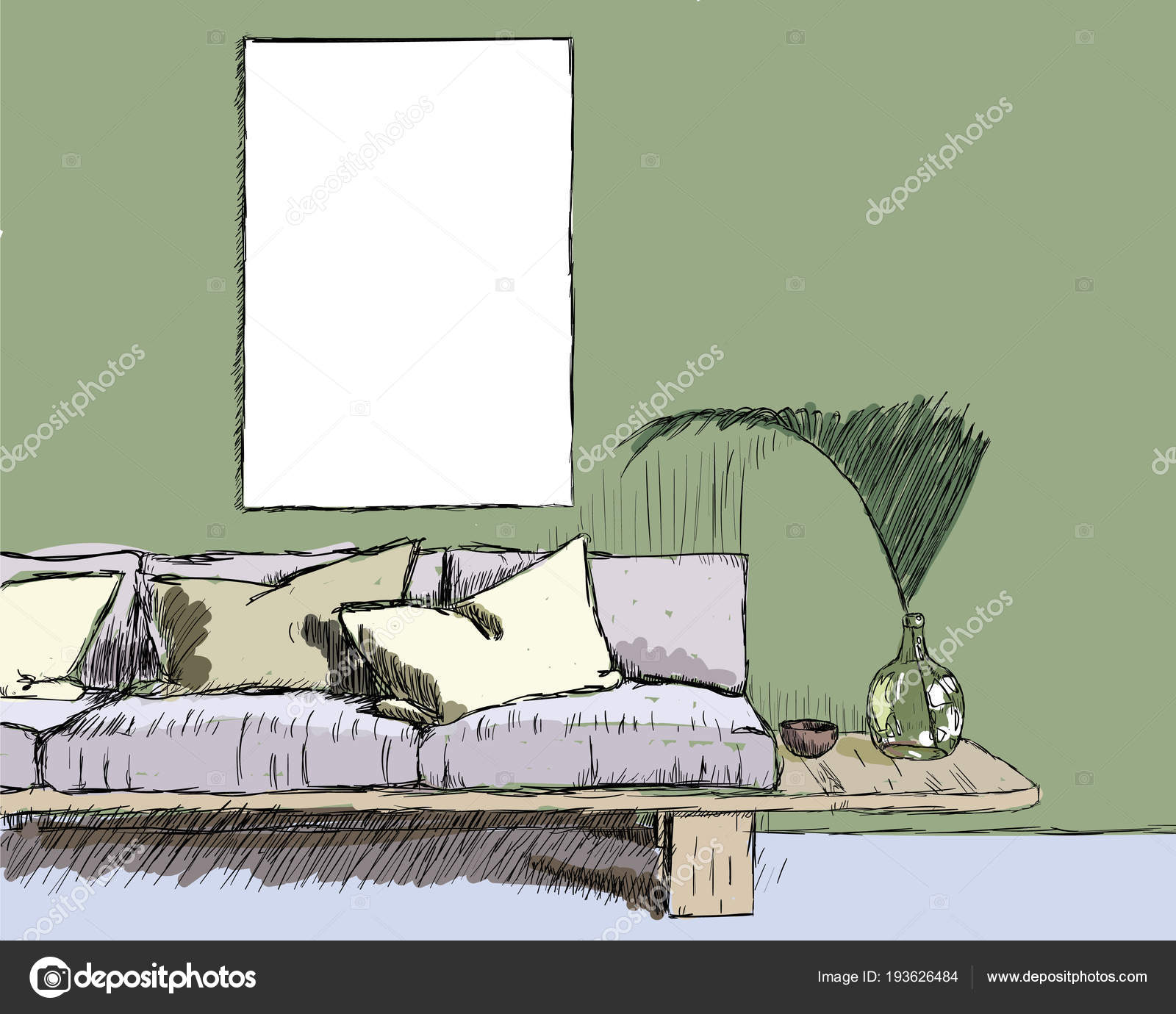 Boceto interiorismo vector ilustraci n vector de stock 3dahmed 193626484 - Boceto interiorismo ...