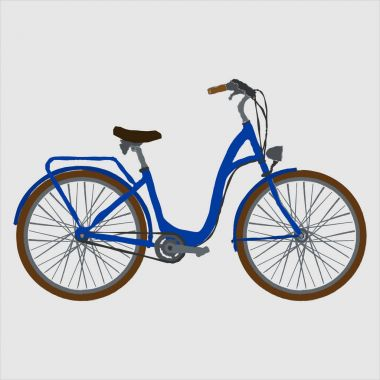 Colorful bicycle vector illustration