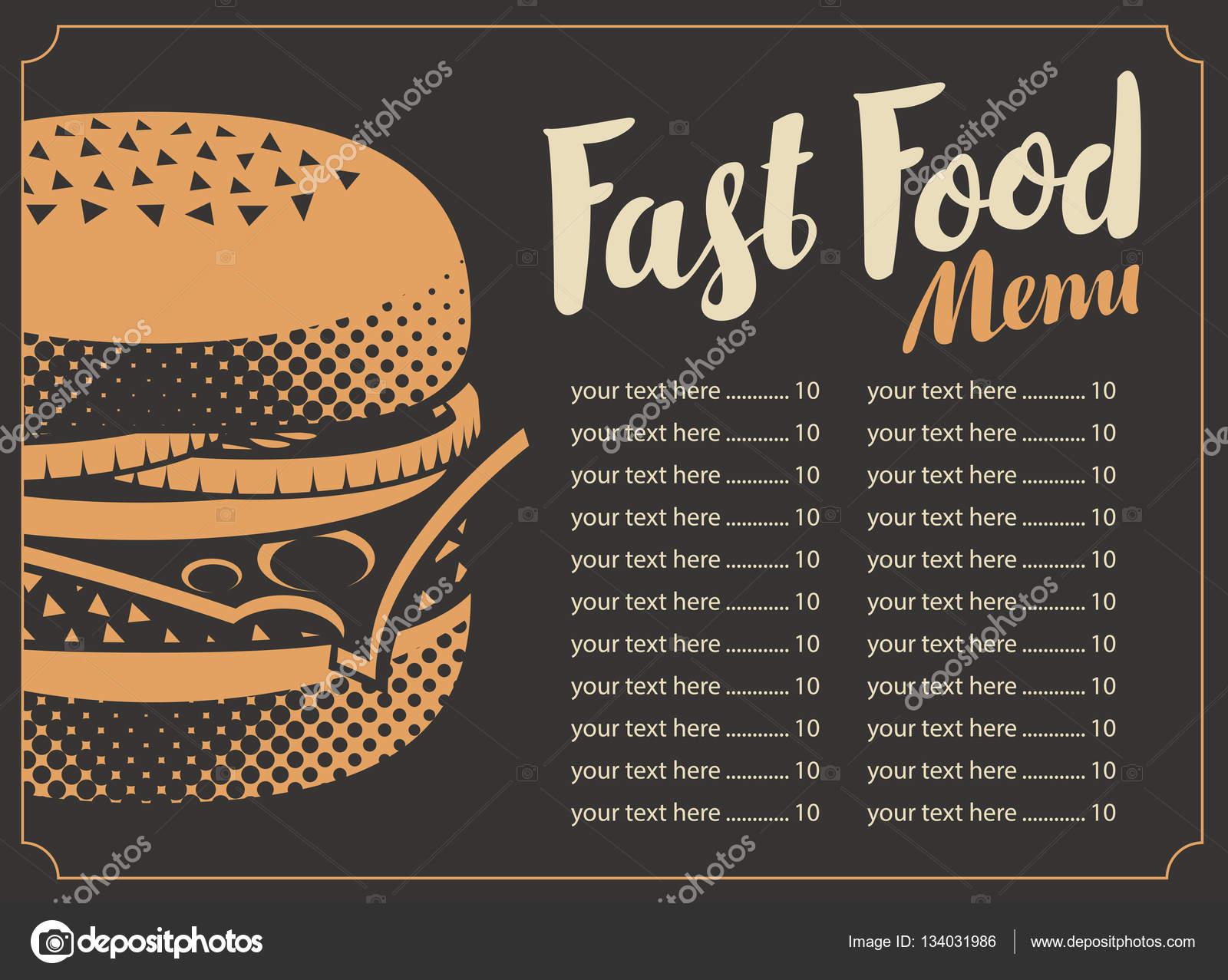 Fondo Para Comida Rapida: Menú Para El Restaurante