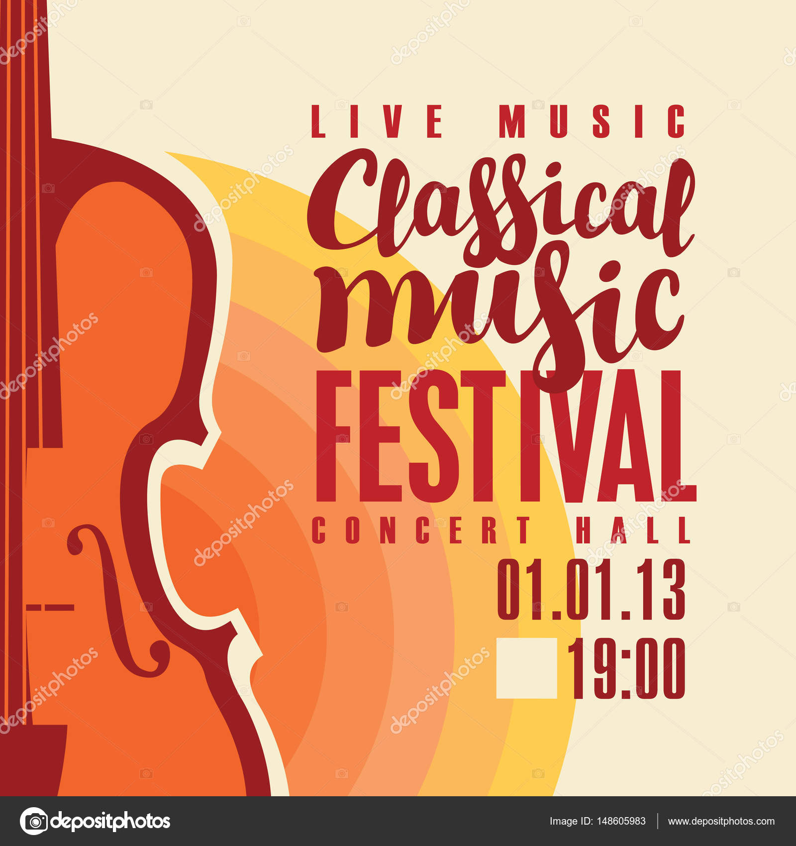 Poster For Festival Classical Music With Saxophone Stock Vector