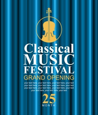 poster for classical music festival with violin