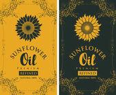 Állítsa be a címkéket díszítőelem finomított napraforgó olaj