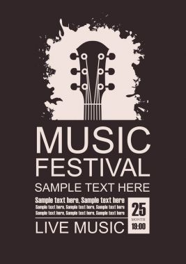 Banner for music festival with a guitar fretboard