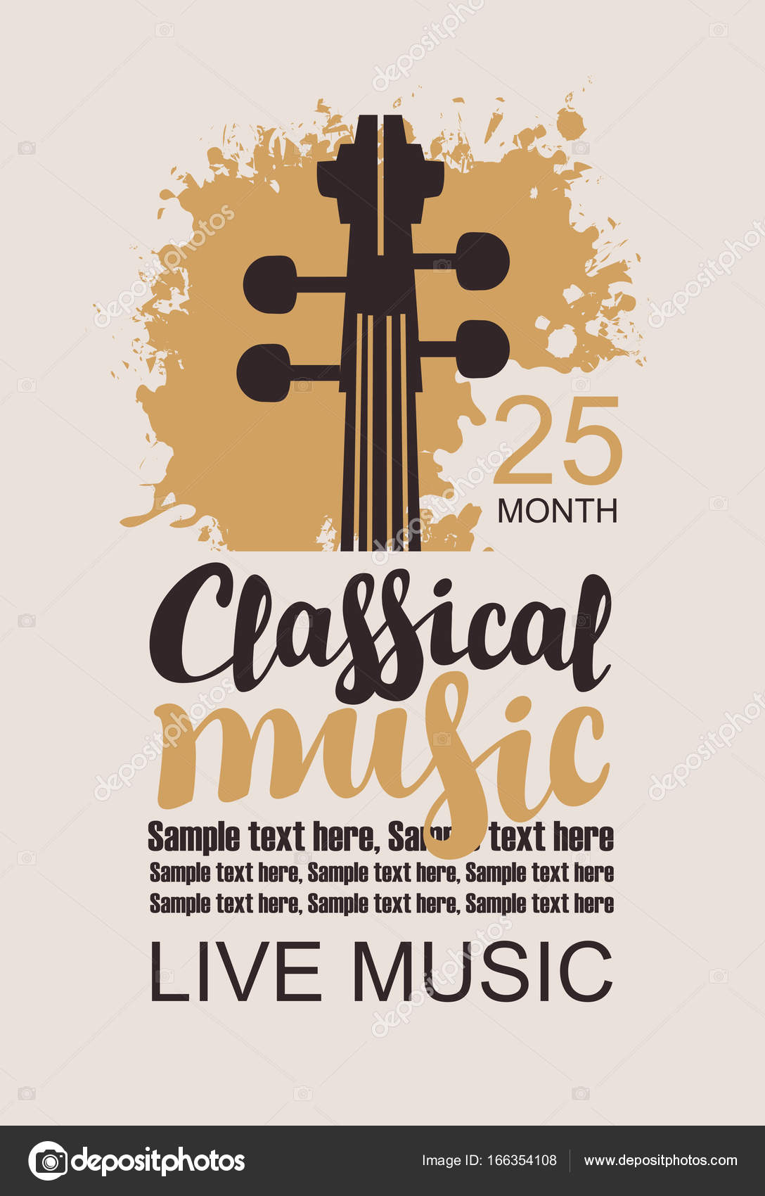 Poster For Concert Of Classical Music With Violin Stock Vector