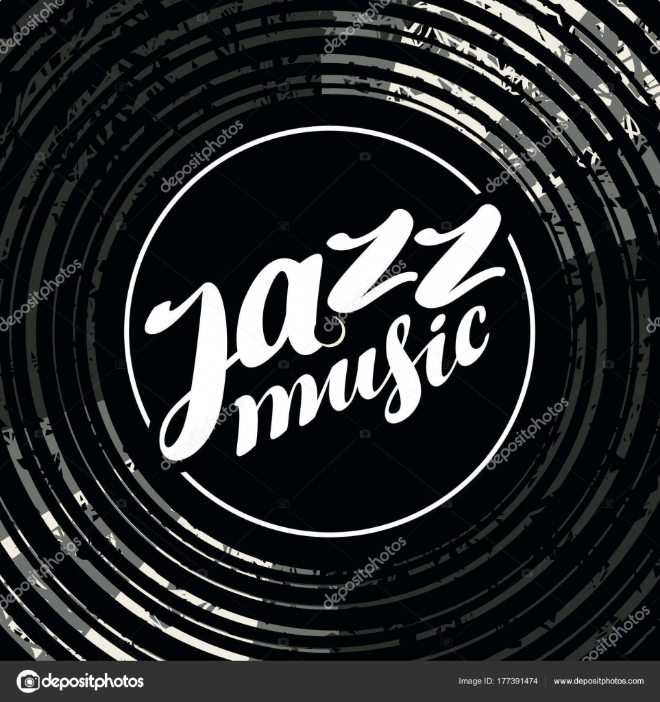 Jazz Music Poster With Vinyl Record And Lettering Stock Vector C Paseven 177391474