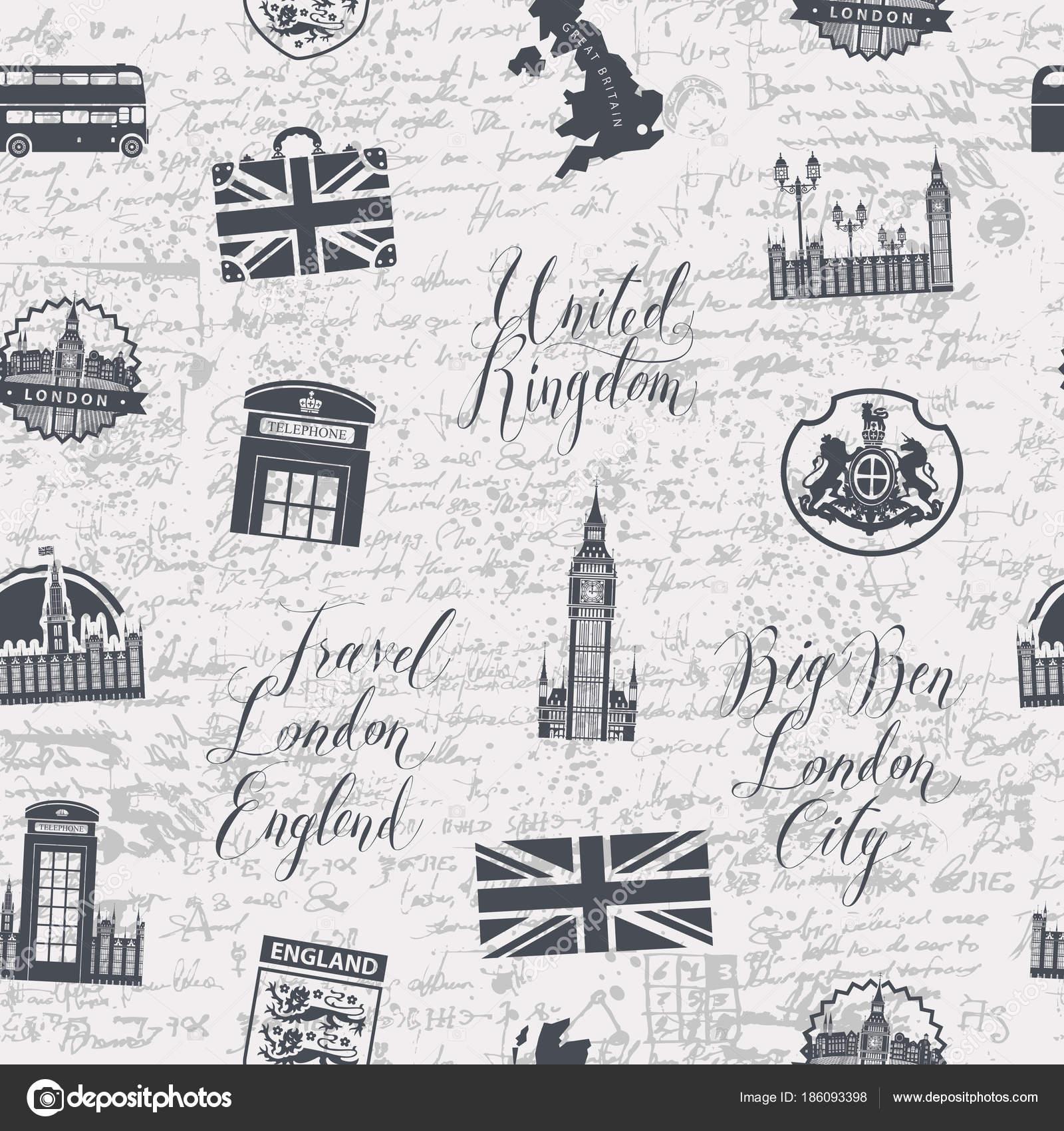 Fondo transparente en el tema de Reino Unido y Londres — Vector de ...