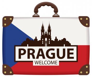 Travel bag with Czech flag and Church of Our Lady