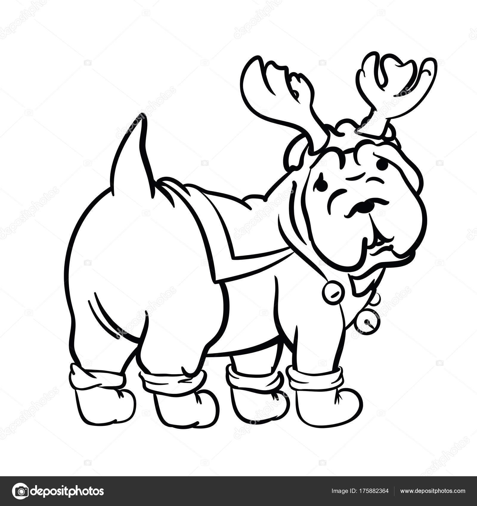 Dibujos Renos Navideños Para Pintar Perro De Navidad