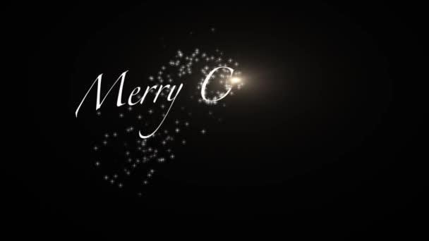 csillagszóró Szöveganimáció kellemes karácsonyi ünnepeket és boldog új évet. készlet-ból üdvözlés