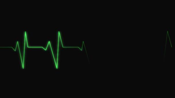 EKG. Loopable.Heartbeat hullámok mutatja 3 feltételek: tachycardia, egészséges szívverés