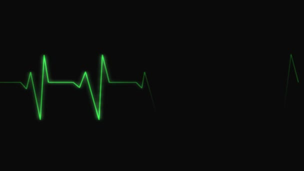 Elektrokardiogramu. Loopable.Heartbeat vlny 3 podmínky: tachykardie, zdravé srdce