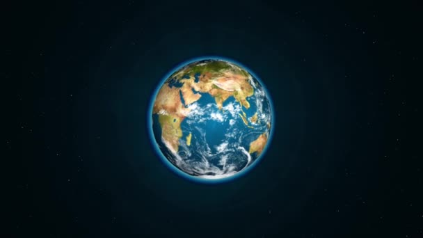 Realistic Earth slowly rotating around
