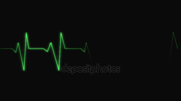 srdeční tep v zelené