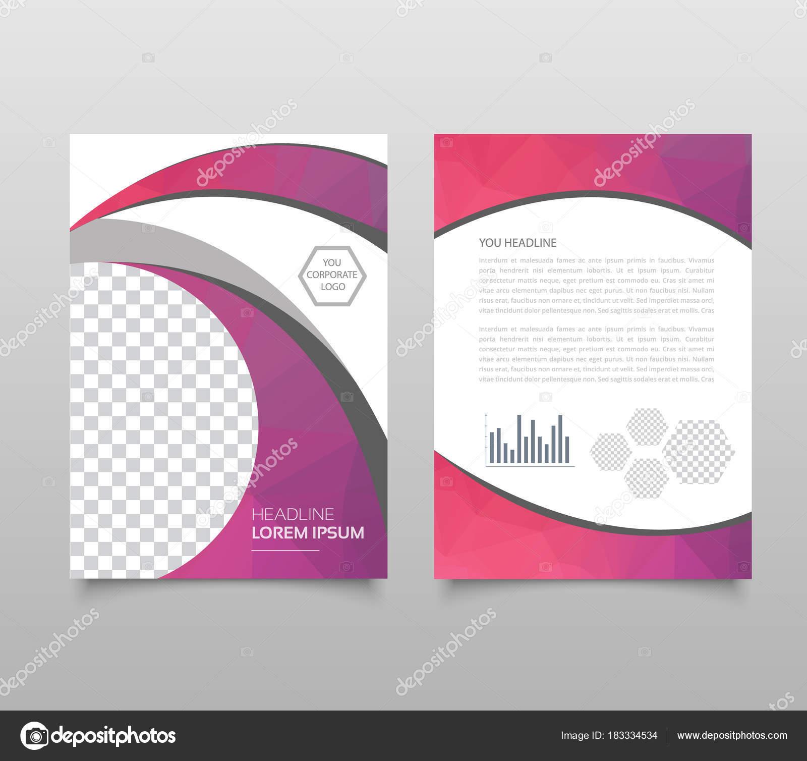 Geometrische Dreieckig Und Andere Trenddesign Stil Broschüre Cover ...