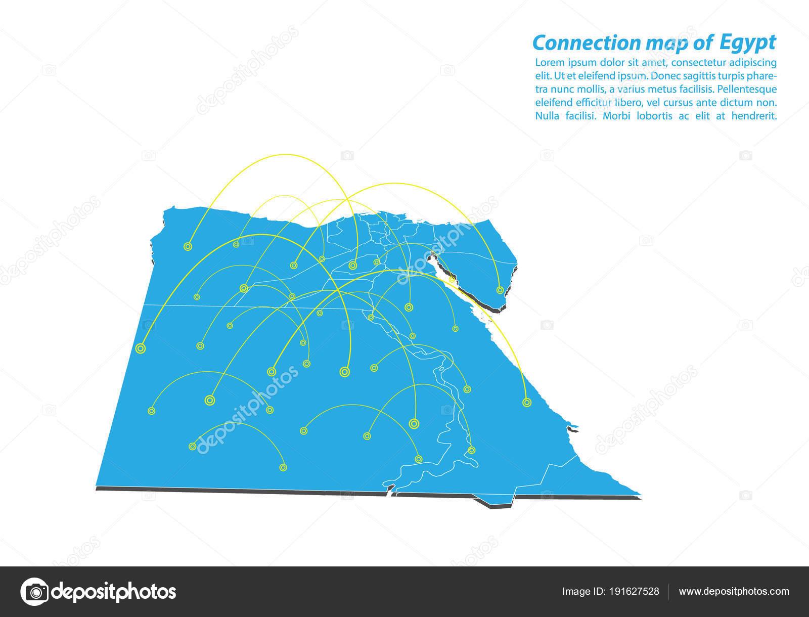 Modern Egypt Map Connections Network Design Best Internet Concept