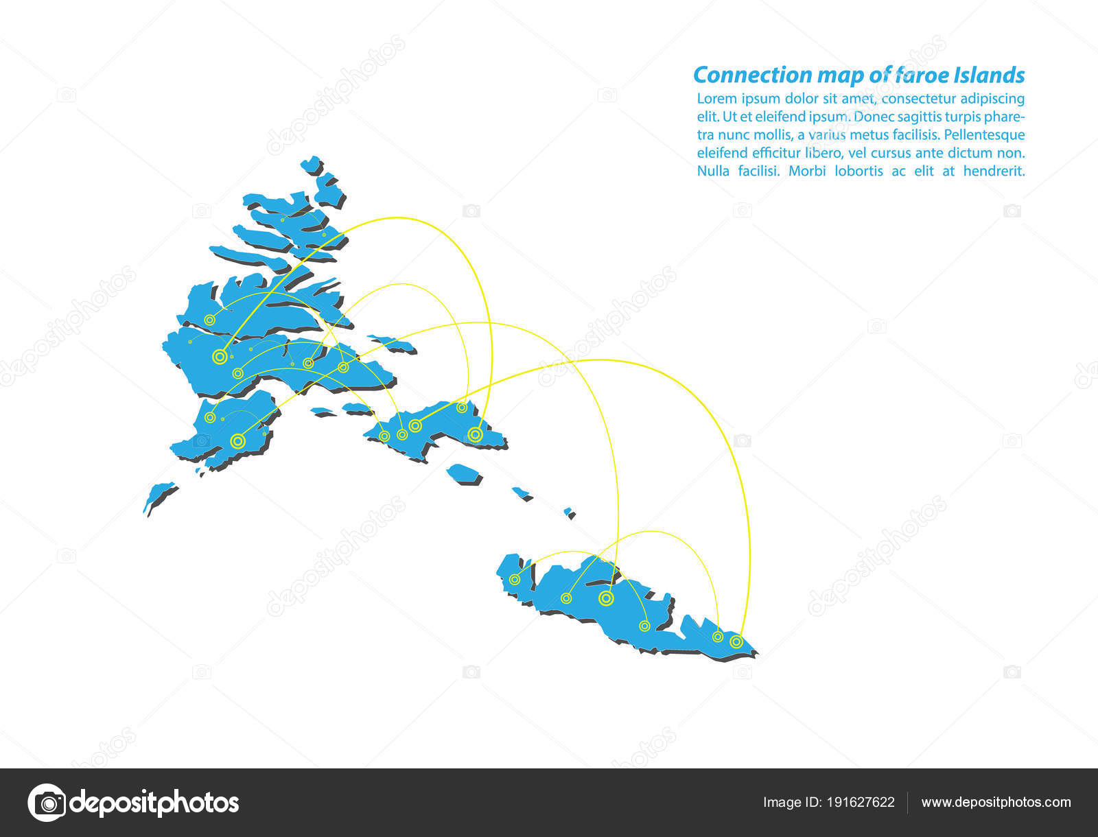 Färöer Inseln Karte.Moderne Der Färöer Inseln Karte Verbindungen Netzwerkdesign Beste