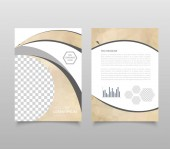 Photo Modern triangle presentation template. Business design background, brochure or flyer concept or geometric web banner