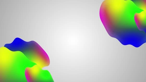 minimální koncepce animace designu. Fluidní trendy hranol gradient abstraktní vlny. Bezproblémové smyčky animovaného pozadí.
