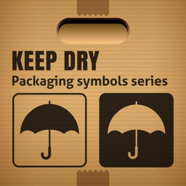KEEP DRY packaging symbol
