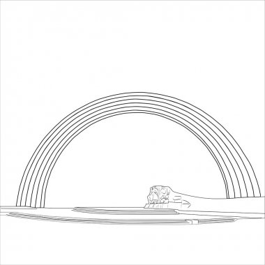 The People's Friendship Arch (Arch of Diversity / Arka druzhby narodiv) monument in Kiev vector icon