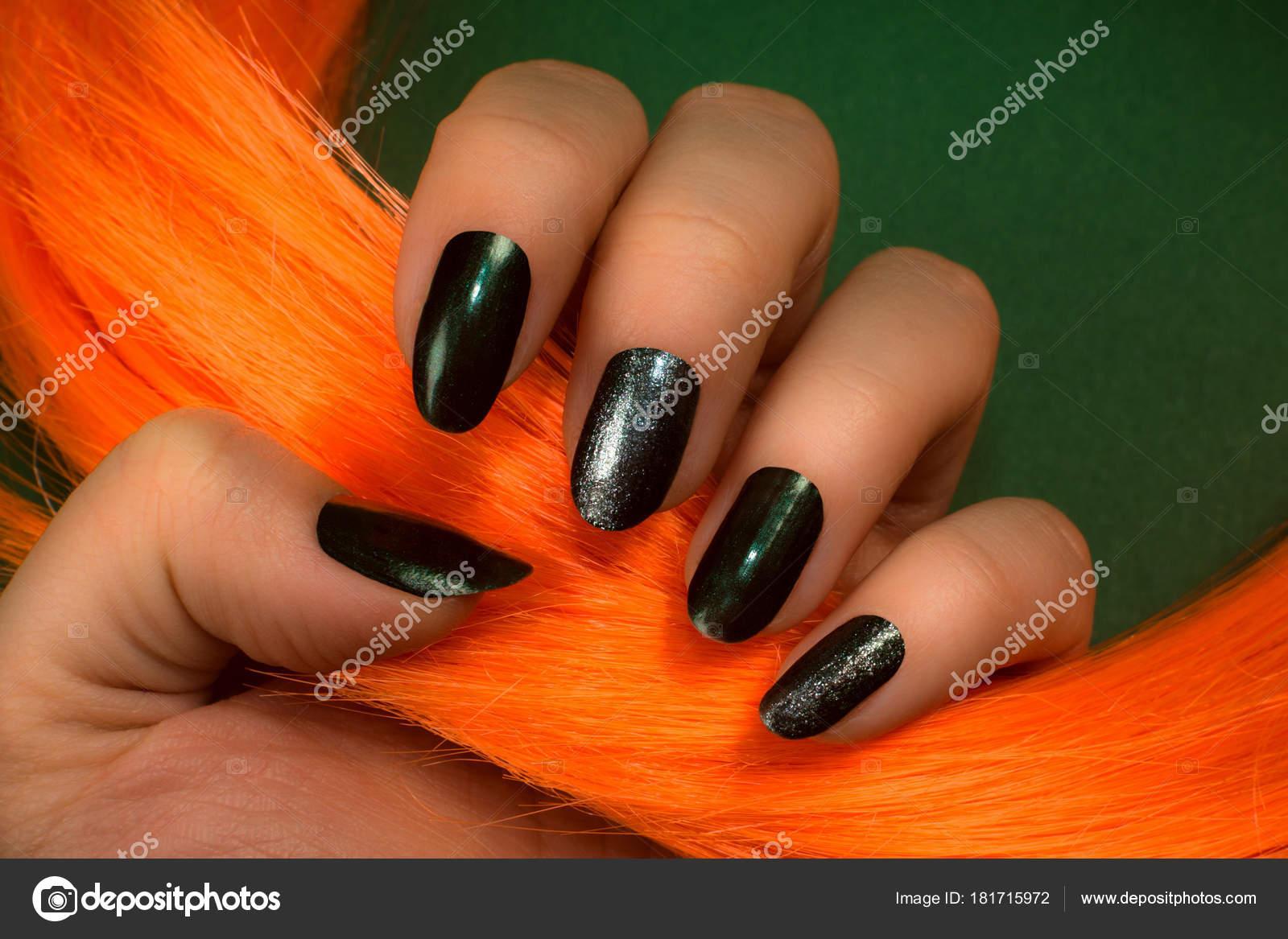 dark green nails — Stock Photo © gyurma #181715972