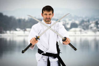 martial arts with two swords