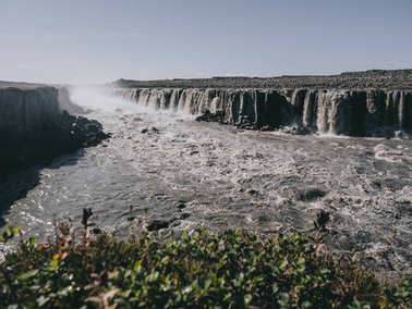 magnificent landscape with Dettifoss waterfall in Iceland