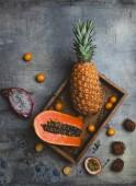 pineapple and kumquats
