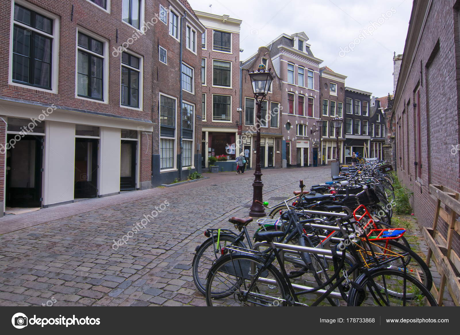 Bicycles Amsterdam Streets Netherlands — Stock Photo ...