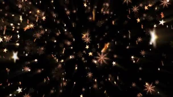 Arany csillagokkal és hópelyhek