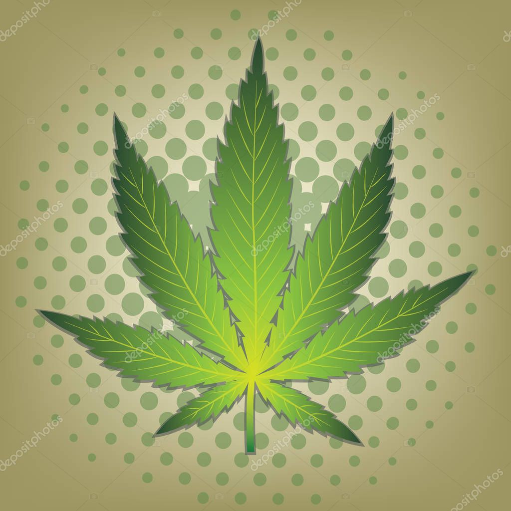 Cannabic leaf on a background