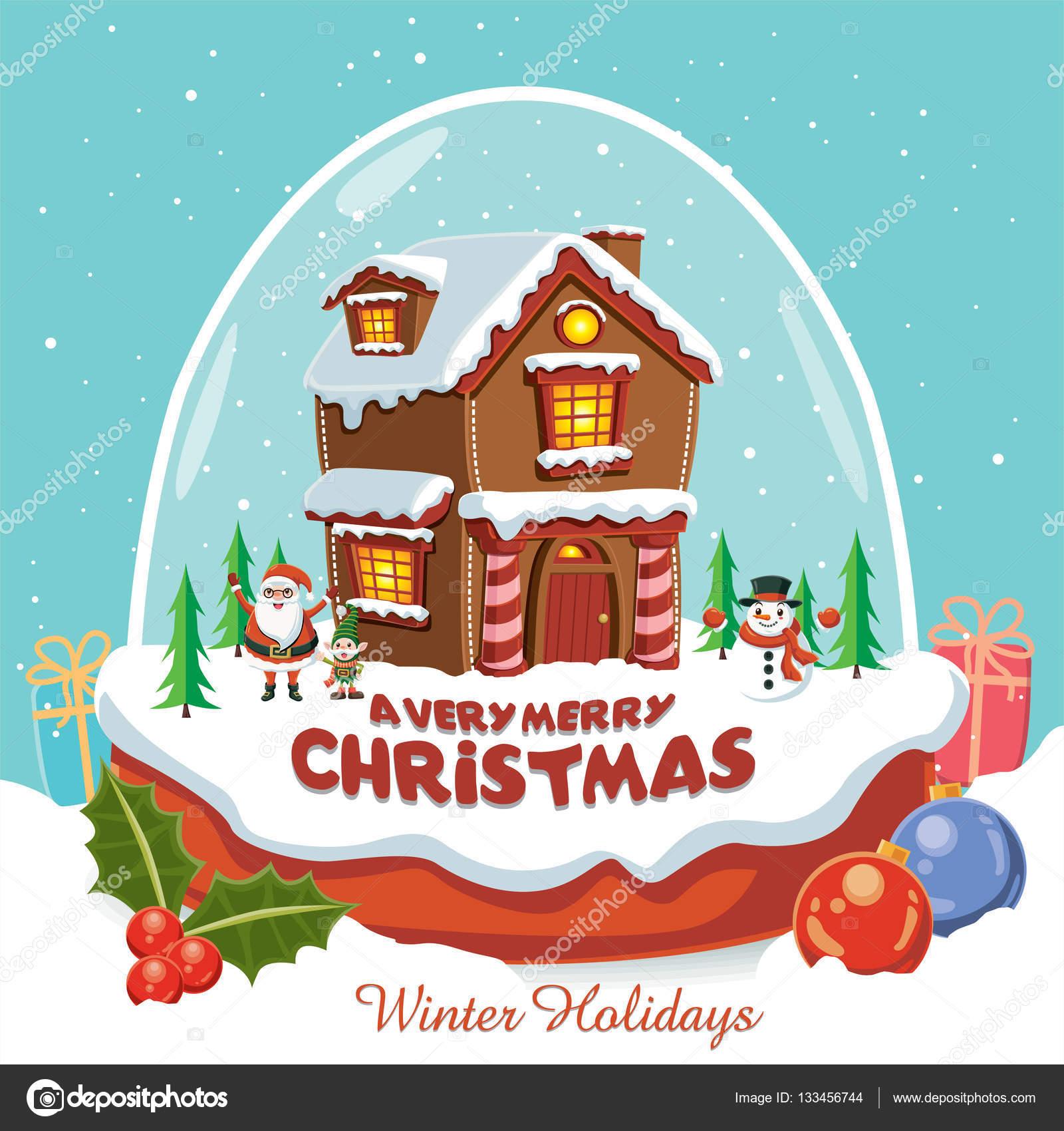 affiche de noel Affiche de Noël vintage design avec le père Noël, bonhomme de  affiche de noel