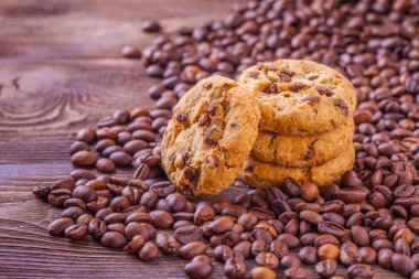 coffee with cookies and chocolate