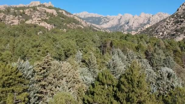 Mountain aerial image La Pedriza de Manzanares Madrid Spain