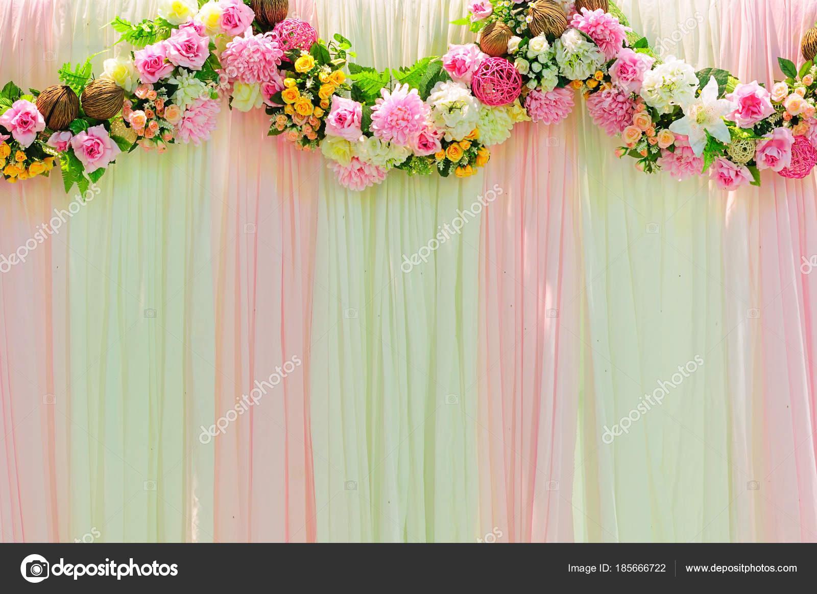 Romance wide scene wedding background decoration 9