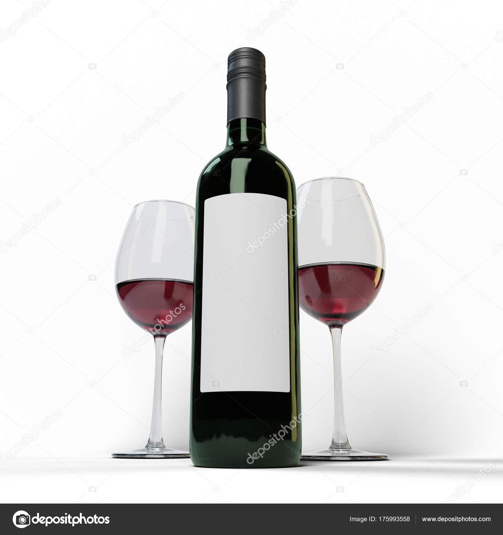 deux verre vin rouge noir vert bouteille avec une tiquette photographie diegoras 175993558. Black Bedroom Furniture Sets. Home Design Ideas
