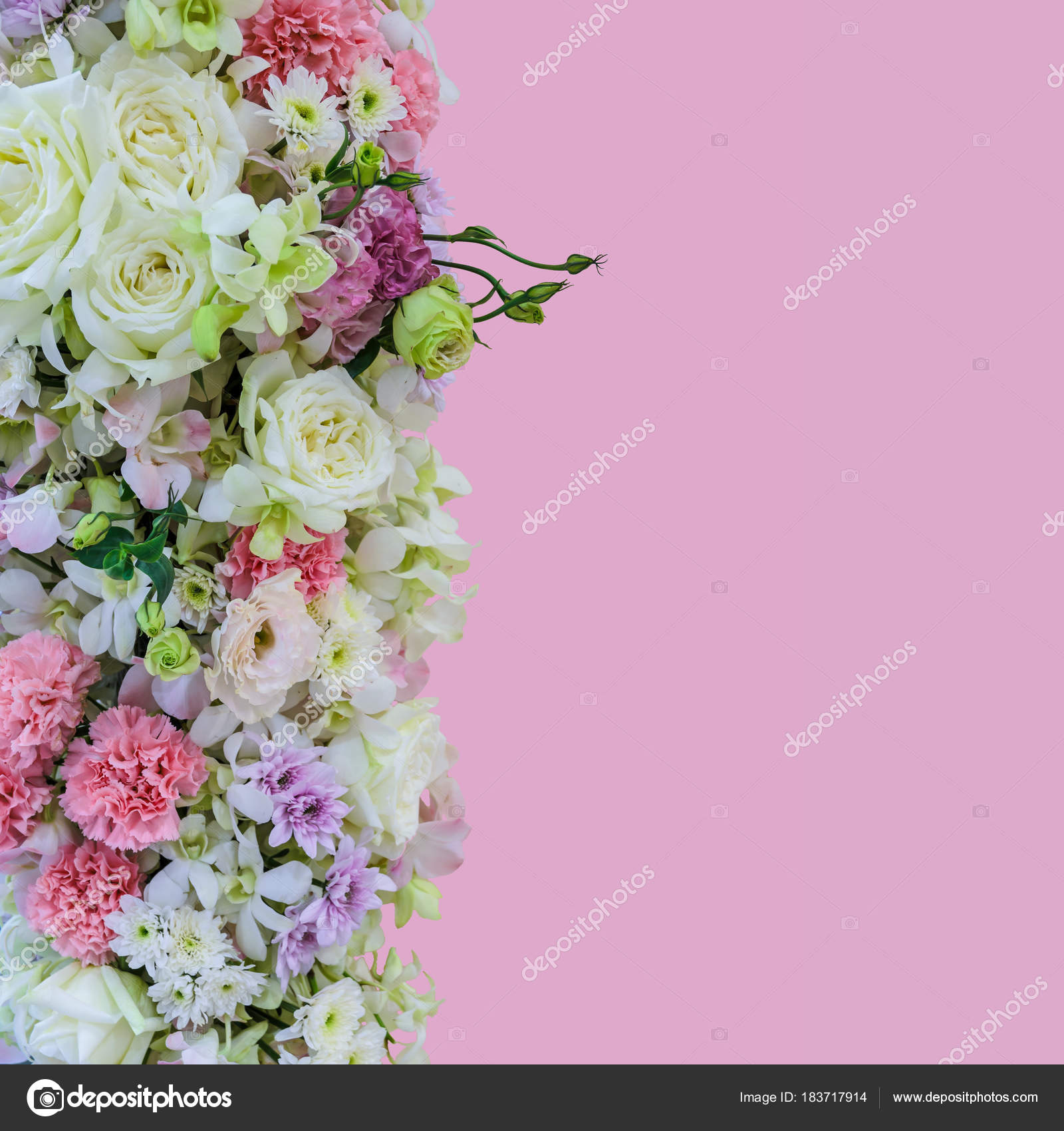 Beautiful Bouquet Flowers With Different Types Of Colorful Flowe