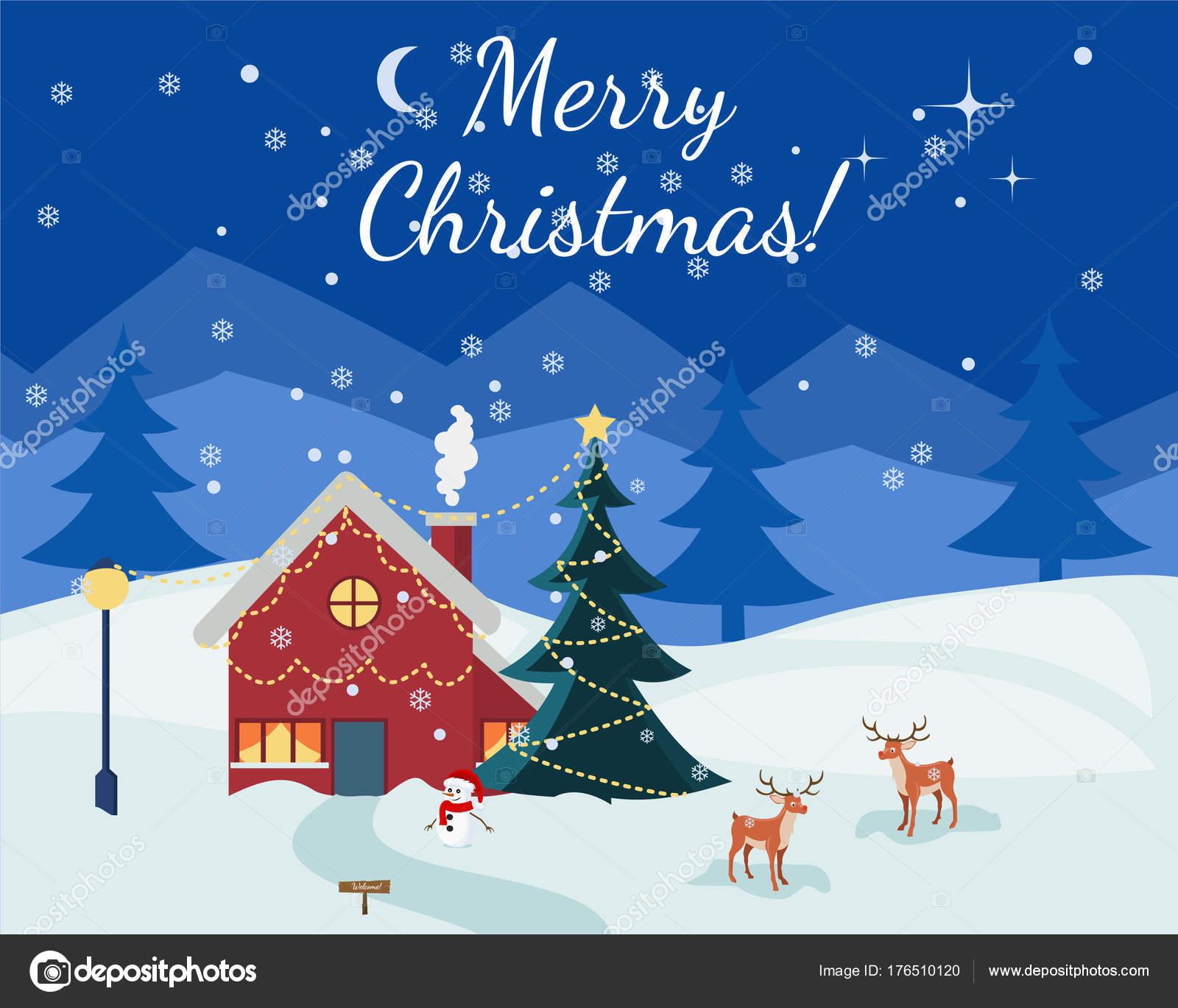 冬クリスマス クリスマス新年あけましておめでとうございます漫画夜青い