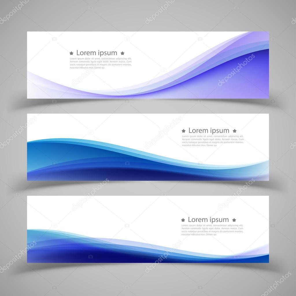 Conjunto de plantillas de banners. Moderno abstracto de Vector ...