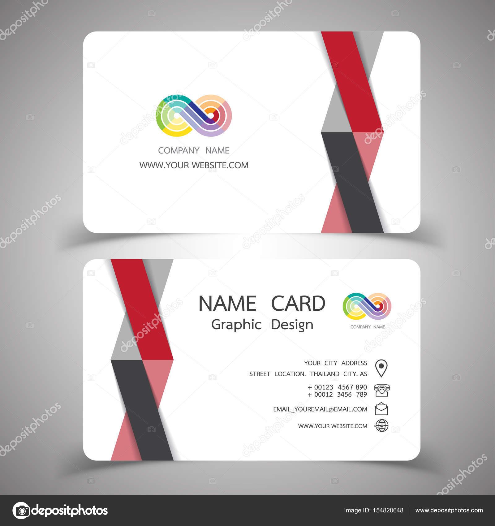 conjunto de diseño de tarjeta de visita. Ilustraciones vectoriales ...