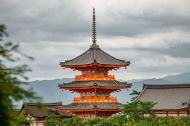 Japanese pagoda over the city