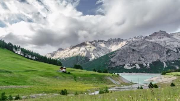 Časová prodleva Alp v Cancano jezeře, Valtellina