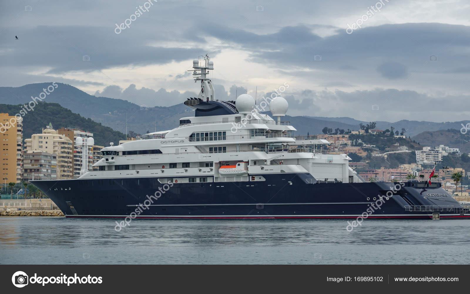 Malaga Spanien 22 Oktober Octopus Luxus Yacht Im Hafen Von