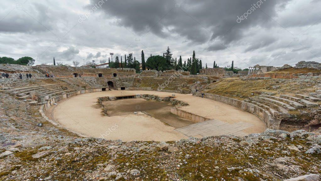 Roman amphitheatre in Merida, Spain