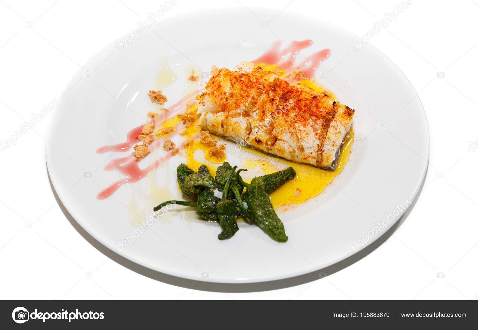 kabeljauw met paprika