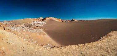 Wide panorama of huge dune in Moon Valley