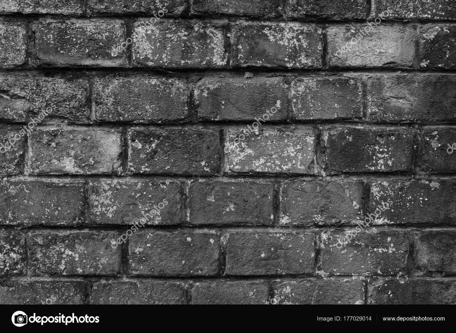 Background Grey Brick Wall Very Old Grey Brick Wall