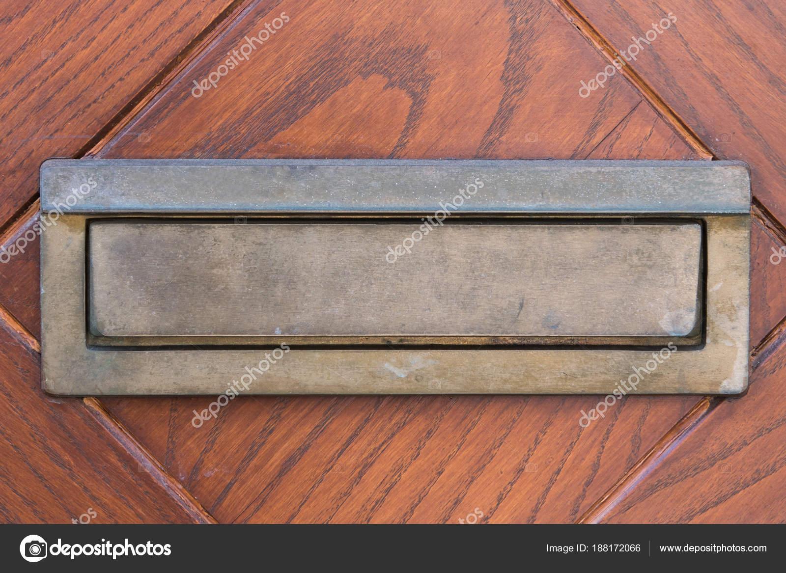 Small Silver Door Mailbox Wooden Doors Small Letterbox u2014 Stock Photo & Small Silver Door Mailbox Wooden Doors Small Letterbox u2014 Stock Photo ...