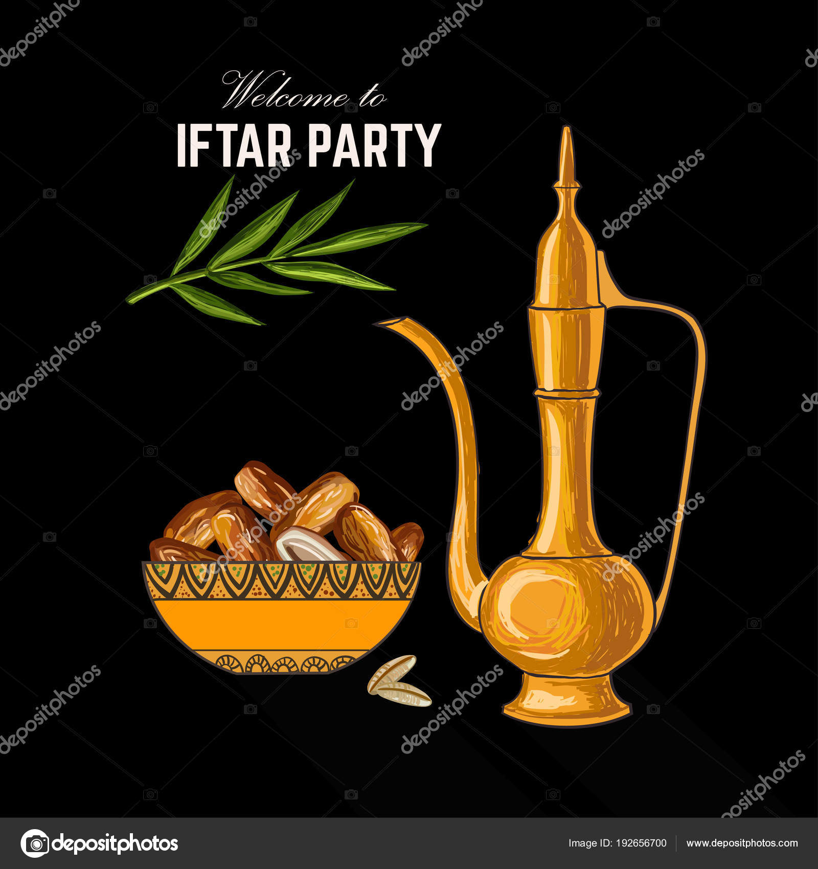 Ramadan kareem iftar invitation card stock vector amishka1 ramadan kareem iftar invitation card stock vector stopboris Gallery